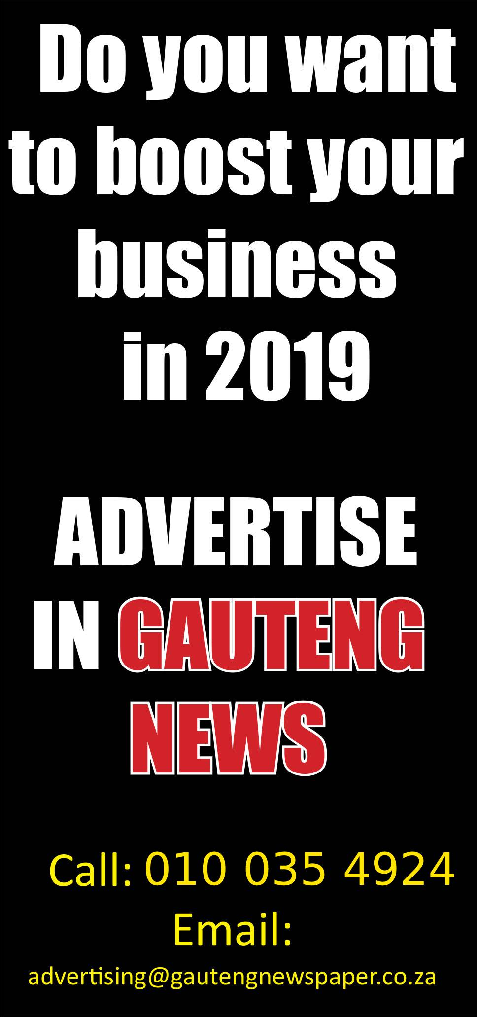 Gauteng advert